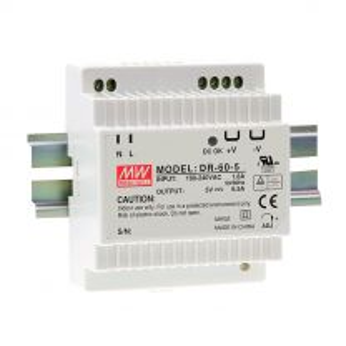 Switch Mode DIN Rail Power Supply, 24 V DC / 2.5 A / 60 W