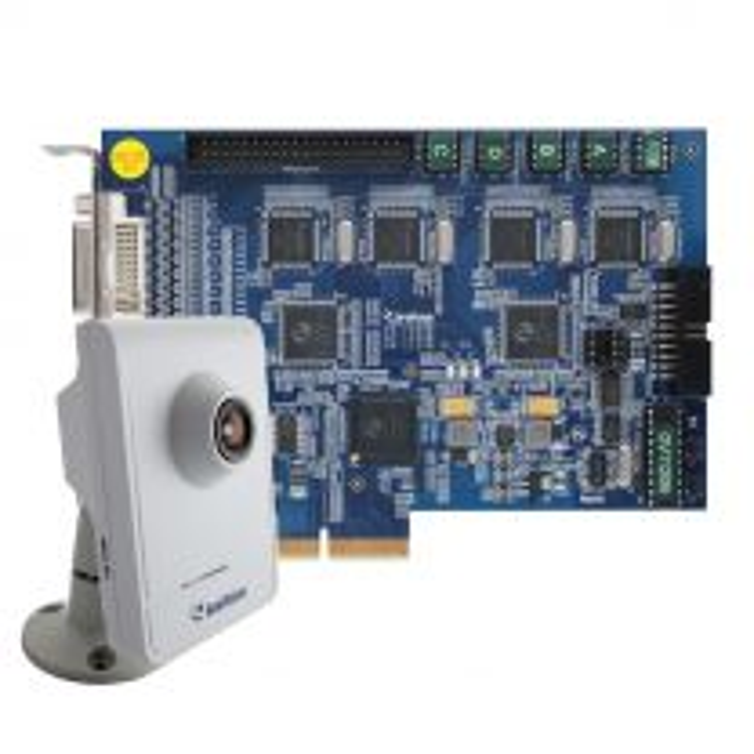 GeoVision GV-1240B-16 + GV-CB120 • 16 channel hybrid video capture card + IP camera GV-CB120